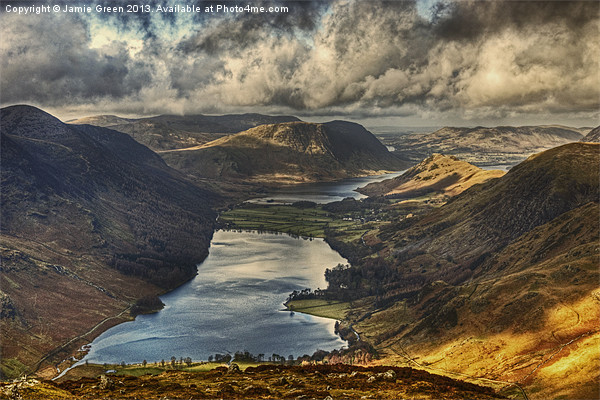 The View From Fleetwith Pike Canvas Print by Jamie Green Voluntary Ranger