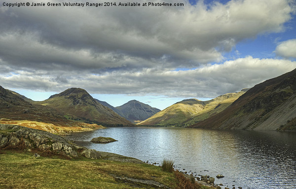 Wastwater In October Canvas Print by Jamie Green Voluntary Ranger