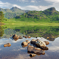 Buy canvas prints of Blea Tarn Reflections by Jamie Green