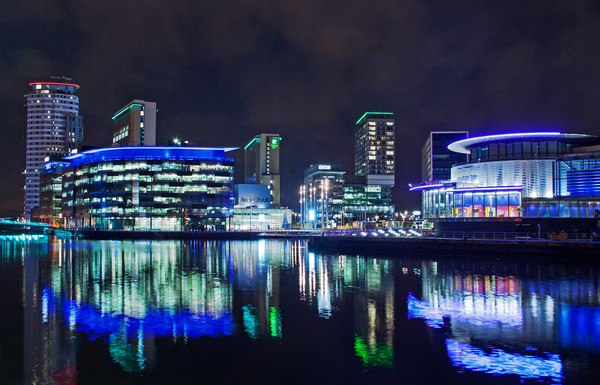 Media City Canvas Print by David McCulloch