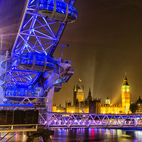 Buy canvas prints of London Eye & Big Ben by Ian Hufton