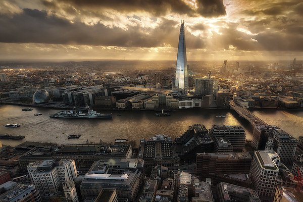London from the Sky Garden Canvas print by Ian Hufton