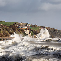 Buy canvas prints of Folkestone and Storm Imogen  by Ian Hufton