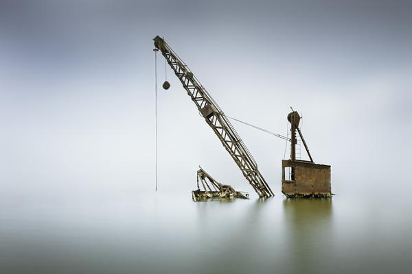 Sunken crane Canvas print by Ian Hufton