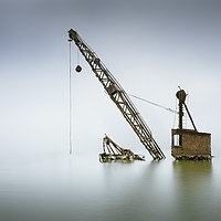 Buy canvas prints of Sunken crane by Ian Hufton