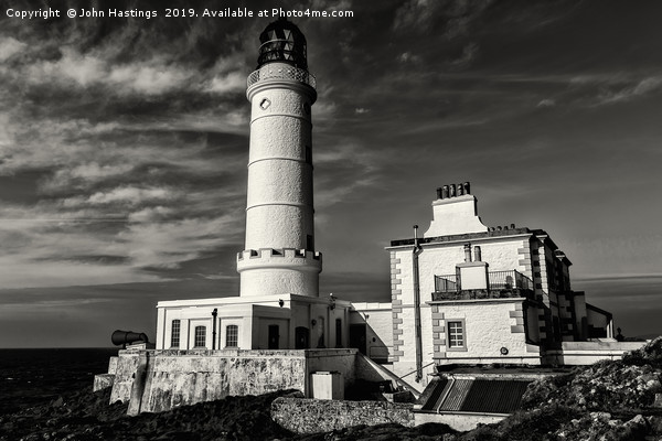 Corsewall Lighthouse Canvas Print by John Hastings