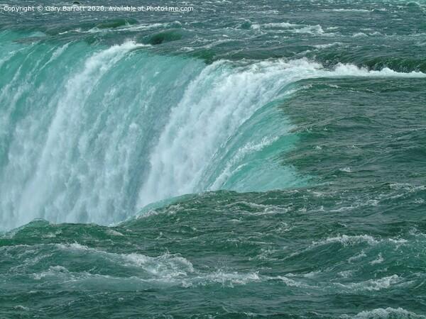 Where The Niagara Falls Framed Print by Gary Barratt