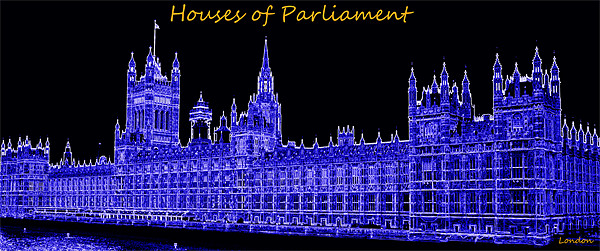 Houses of Parliament Canvas print by Fine art prints by Rina