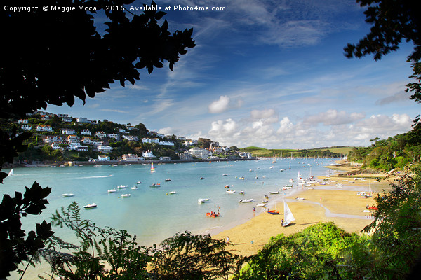 Salcombe Estuary, South Devon Canvas print by Maggie Mccall