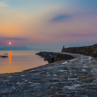 Buy canvas prints of Sunrise on the Cobb, Lyme Regis by Maggie Mccall