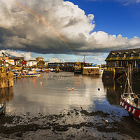 Buy canvas prints of Low Tide, Mevagissey Harbour, Cornwall. by Maggie Mccall