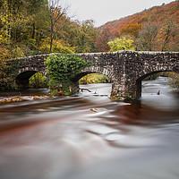 Buy canvas prints of Fingle Bridge, Dartmoor, Devon. by Maggie Mccall