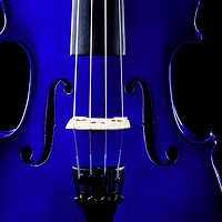 Buy canvas prints of Blue Violin Closeup by Maggie Mccall