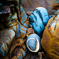 Buy canvas prints of Abstract Rocks, Widemouth Bay, Cornwall 2 by Maggie Mccall