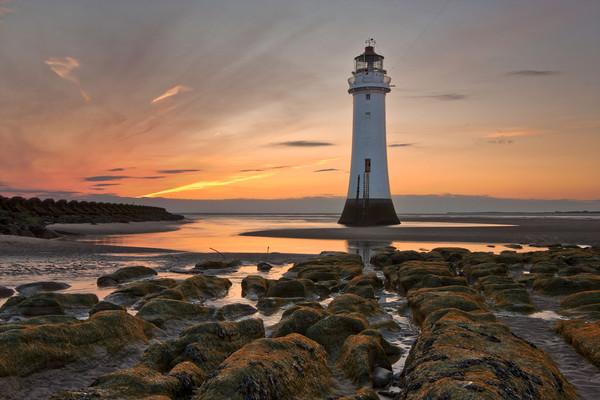 New Brighton Sunset Canvas print by raymond mcbride