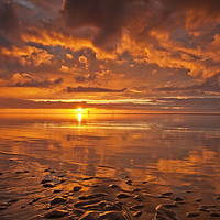 Buy canvas prints of New Brighton Sunset ( Reflections) by raymond mcbride