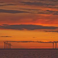 Buy canvas prints of AFTERBURN (Wind turbines) by raymond mcbride