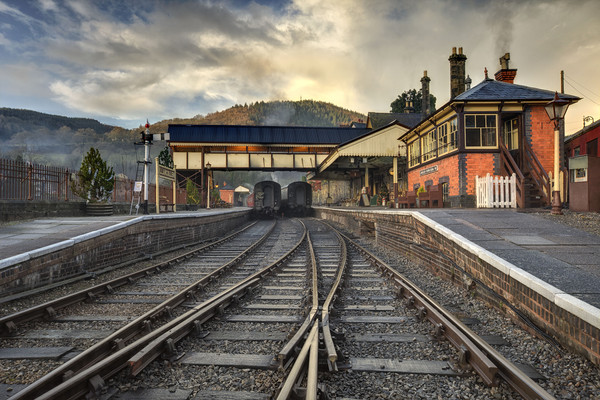 """Llangollen Station""(A Low P.O.V.) Canvas print by raymond mcbride"