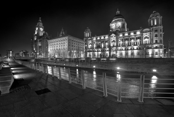 """The Three Graces Liverpool"" Canvas print by raymond mcbride"