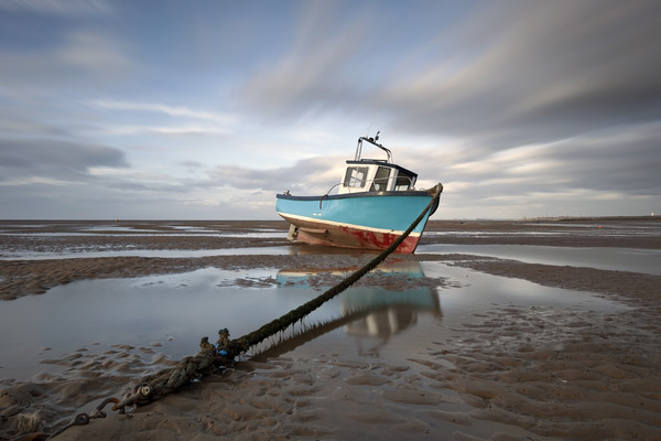 """""""Fishing Boat"""" (North West Beach) Canvas print by raymond mcbride"""