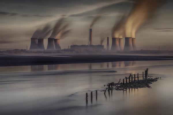 """Industrial Sunrise"" Canvas print by raymond mcbride"
