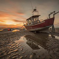 Buy canvas prints of Meols Sunset by raymond mcbride