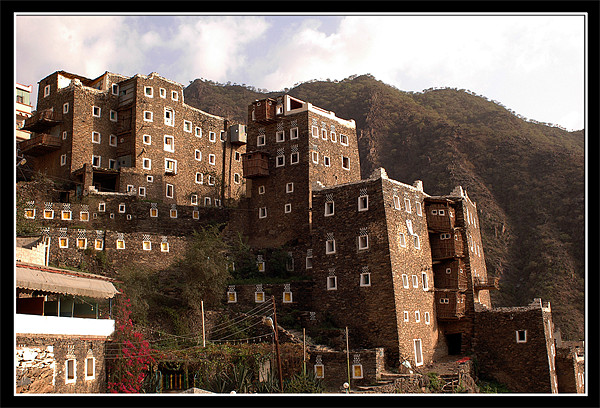 Rijal Alma Houses and Museum Framed Mounted Print by Art Magdaluyo