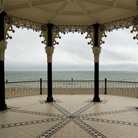 Buy canvas prints of The Sea Through Brighton Bandstand by Jayne Lloyd