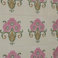 Buy canvas prints of Art Nouveau Tiles, Singapore by Jayne Lloyd