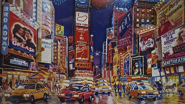 Time Square New York City Canvas print by Sue Bottomley