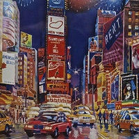 Buy canvas prints of  Time Square New York City by Sue Bottomley