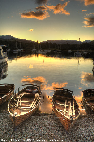 Boats on Windermere Canvas print by John Kay