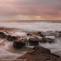 Buy canvas prints of Rocks as the sea comes in by John Kay