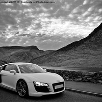 Buy canvas prints of Audi R8 Llyn Ogwen by Roger Cruickshank