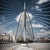 Buy canvas prints of Seri Wawasan Bridge by Zoe Ferrie