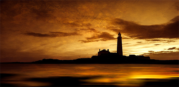 St Mary's Lighthouse sunrise Canvas print by David Smith