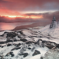 Buy canvas prints of Sunrise at the old man of Storr by David Smith