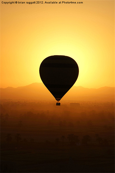 Balloon over the valley of the kings Canvas print by Brian  Raggatt