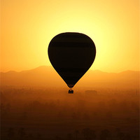 Buy canvas prints of Balloon over the valley of the kings by Brian  Raggatt