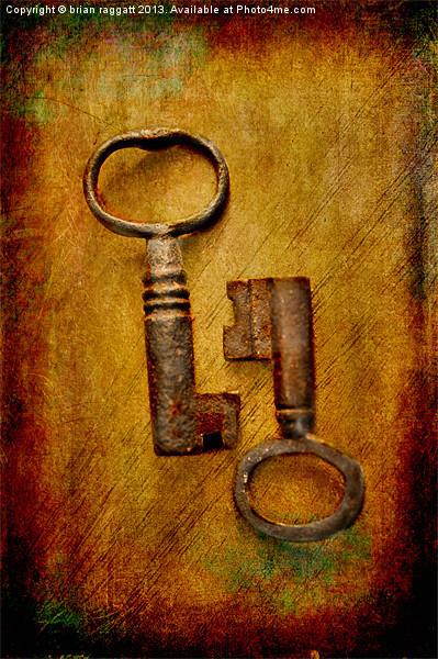 2 Old Keys Print by Brian  Raggatt