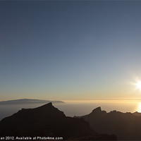 Buy canvas prints of Canary islands sunset by Phil Crean