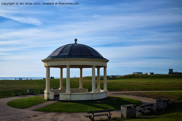 The old Blyth Bandstand Canvas Print by Jim Jones