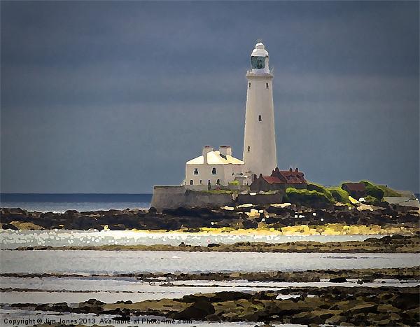 St Marys Island Lighthouse Canvas print by Jim Jones