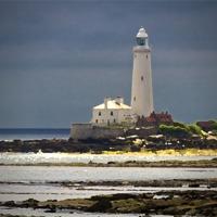 Buy canvas prints of St Marys Island Lighthouse by Jim Jones