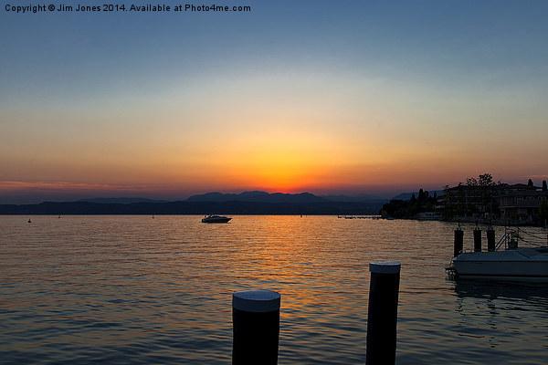 Sunset on Lake Garda Canvas print by Jim Jones