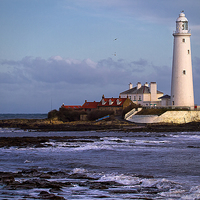 Buy canvas prints of  St Marys Island and Lighthouse by Jim Jones