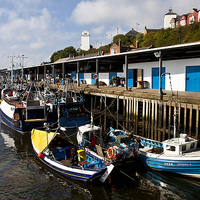 Buy canvas prints of  North Shields Fish Quay by Jim Jones