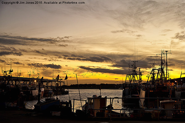 Dusk over the Fish Quay Canvas print by Jim Jones