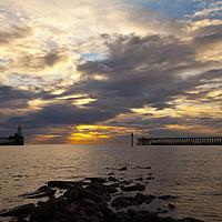 Buy canvas prints of North Sea Sunrise by Jim Jones