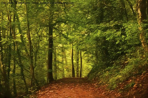 Artistic Walk through the woods Canvas print by Jim Jones